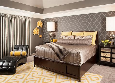 brown and silver bedroom decor cheerful sophistication 25 elegant gray and yellow bedrooms
