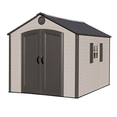 lifetime    outdoor storage shed browntan bjs