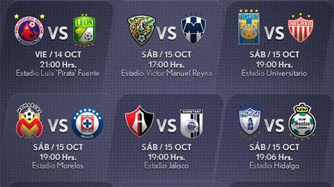 Calendario Liga Mx Jornada 10 2016 Fechas Y Horarios De La Jornada 13 Apertura 2016 En La