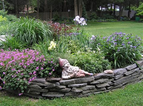 stone flower bed border old country gardens raised beds edging materials