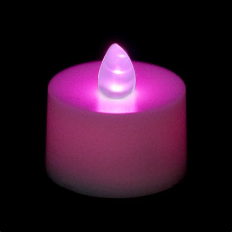 flicker lights battery operated flickering battery operated tea light candle purple
