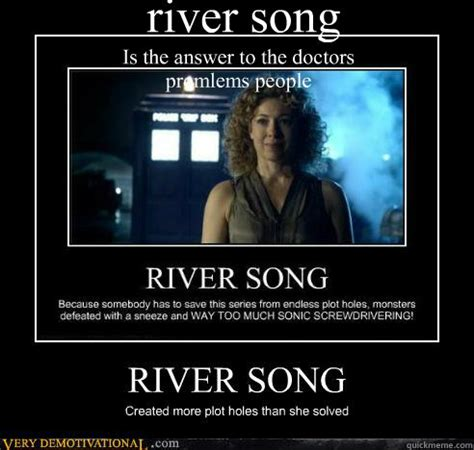 Song Meme - river song is the answer to the doctors promlems people