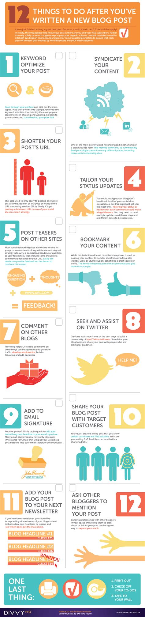 blogger needed your blog post promotion checklist an infographic from
