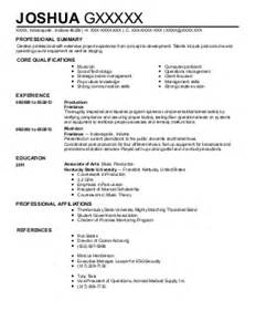 recording artist software engineer resume exle stand