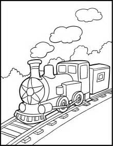free coloring pages train number