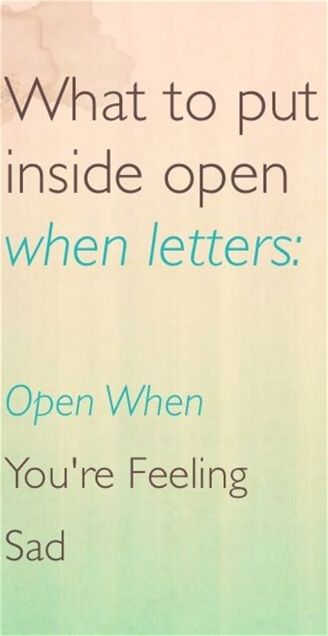 what to write in open when letters what to put inside open when letters open when you are 1714