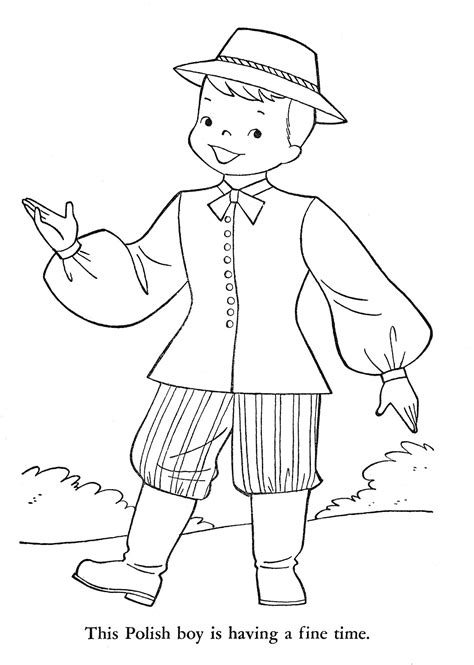 is poland coloring pages