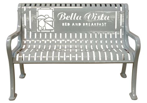 logo bench 4 custom diamond pattern logo bench commercial site
