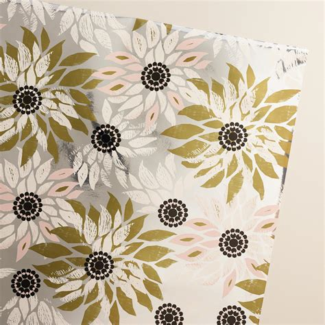 Flower Jumbo flower winter soiree jumbo wrapping paper roll world market