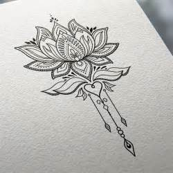Lotus Flower Sketch Tattoos 17 Best Ideas About Thigh Designs On