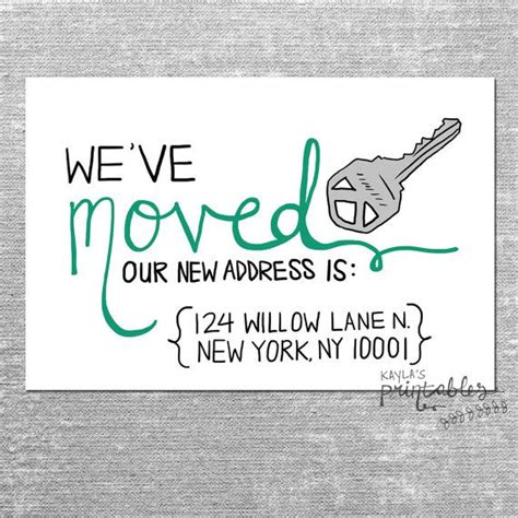 free printable moving postcards we ve moved card with custom address 4x6 printed card