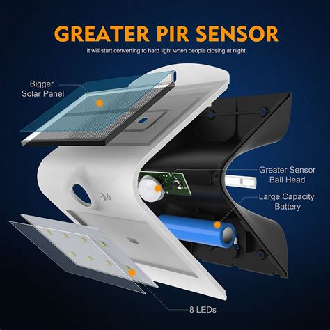 motion sensor outdoor lighting solar powered honesteast solar lights outdoor security lighting solar