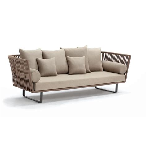 modern patio sofa bitta braided modern outdoor sofa