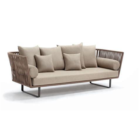 Bitta braided modern outdoor sofa