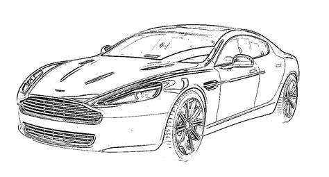 how to draw aston martin