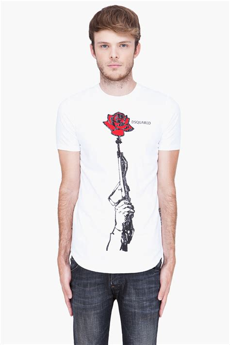 Hoodie Sweater Guns And Roses Merah Cloth lyst dsquared 178 guns n roses tshirt in for