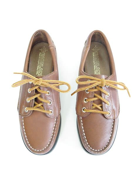 brown loafers with laces eastland brown leather lace up loafers size 7 preppy classic