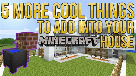 things to put in a minecraft bedroom minecraft 5 more cool things to add into your house base