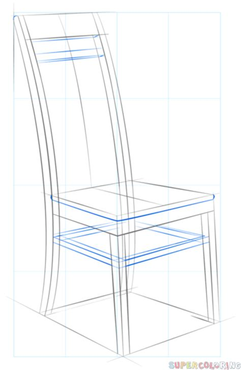 How To Draw A Chair by How To Draw A Chair Step By Step Drawing Tutorials