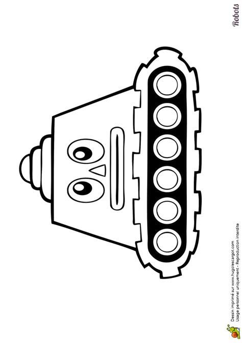 Dessin à colorier et à imprimer d'un petit robot tank