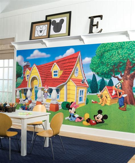 Mickey Mouse Wall Murals mickey amp friends chair rail prepasted wall mural