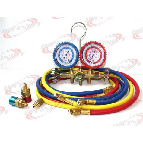 Manifold Freon ac manifold set r134a r22 r12 hvac w digital