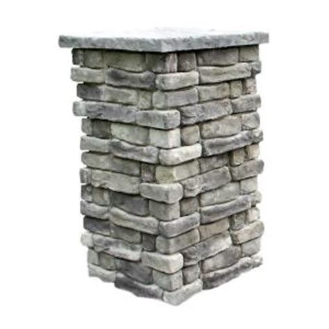decorative stone home depot random stone outdoor square stone column at home depot