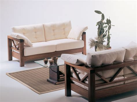 Sofa with exposed wood, simple design, for attic IDFdesign