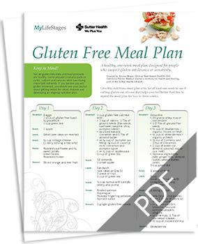 Gluten Free Detox Plan by Gluten Free Diet Plan Gluten Free Menu Mylifestages