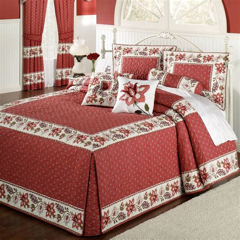 queen bed spread chateau rouge oversized fitted bedspread bedding