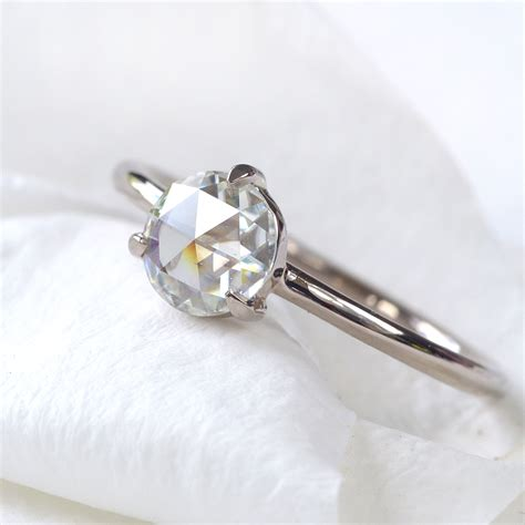 Moissanite Rings by Cut Moissanite Ring 18ct Gold Or Platinum Lilia Nash