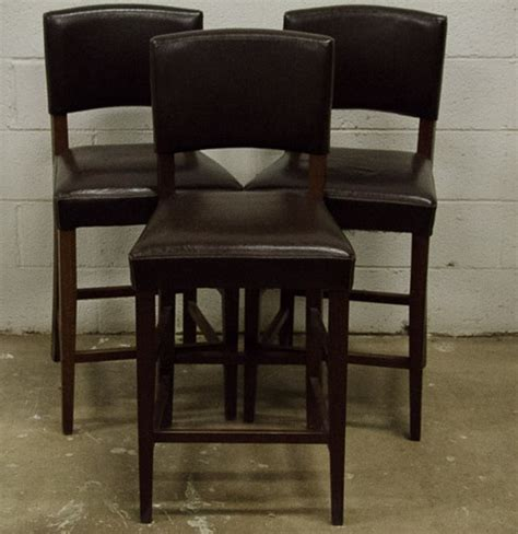 brown bar stools leather pier 1 dark brown italian leather bar stools ebth
