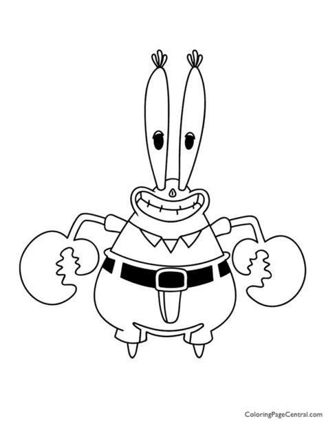 Spongebob - Mr Krabs Coloring Page   Coloring Page Central