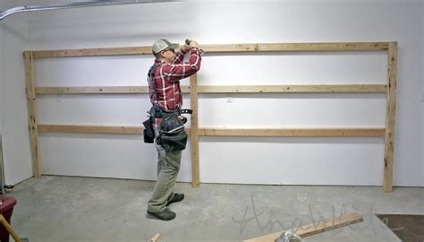 simple garage shelves white easy and fast diy garage or basement shelving