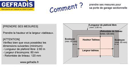 Dimension Porte De Garage Sectionnelle by Prendre Ses Mesures Pour Sa Porte De Garage Sectionnelle