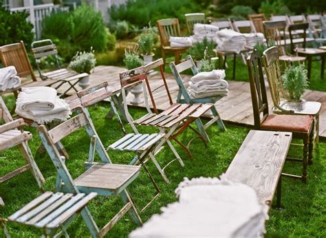 chairs garden wedding mismatched shabby chic chairs outdoor wedding decor