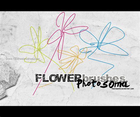doodle flower photoshop brushes doodle flowers brushes photoshop 123freebrushes