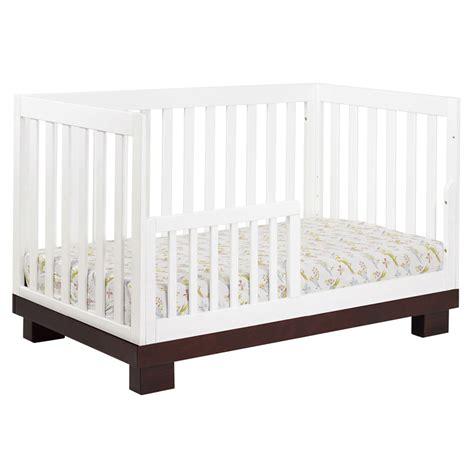 Convertible Crib Espresso Espresso And White Modo Convertible Crib By Babyletto