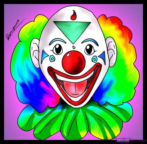 Komik Scary Lessons 19 learn how to draw a clown faces free step by step drawing lessons for added by