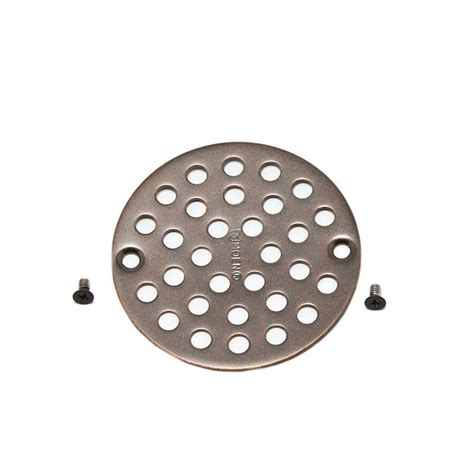 oil rubbed bronze drain moen 4 in shower drain cover for 3 3 8 quot opening in oil