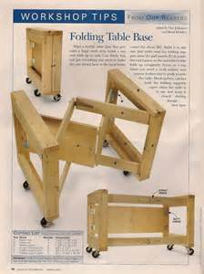 folding workshop table plans woodworking projects plans