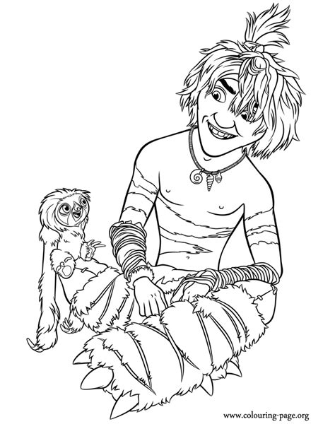 the croods guy coloring page
