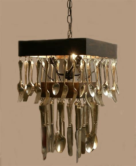 silverware chandelier silverware chandelier lighting