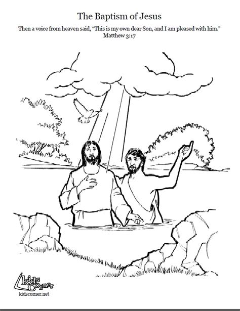 john the baptist baptism jesus coloring pages jesus baptism coloring page script and bible story
