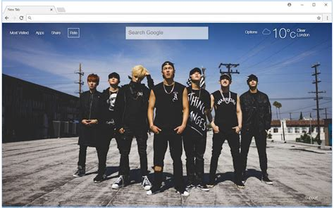 theme chrome monsta x monsta x wallpapers hd new tab k pop themes free addons