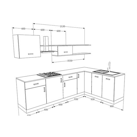 Buy Kitchen Island Online Buy Heron Elegant L Shaped Kitchen Online Homelane India