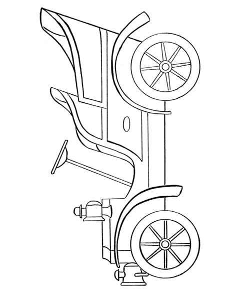coloring page of model t car learning years coloring pages cars and vehicles
