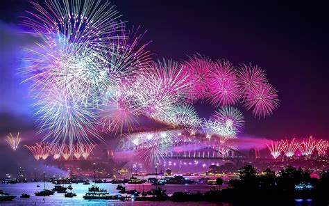 New Year Fireworks, Sydney Harbour widescreen wallpaper