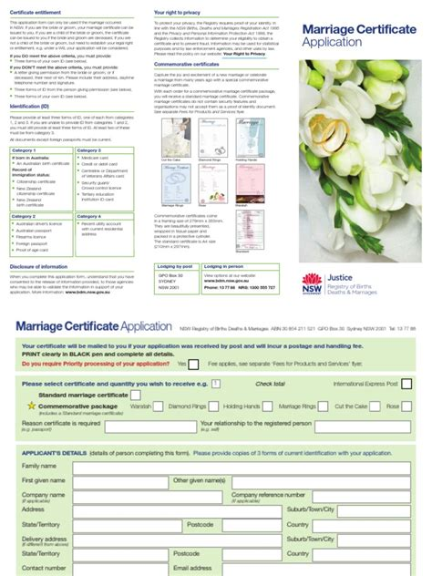 Nsw Marriage Records Apply For Marriage Certificate Nsw Docshare Tips