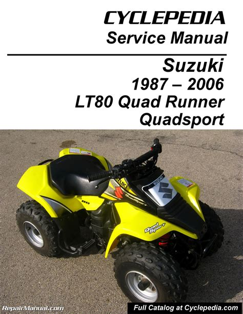suzuki lt quadsport kawasaki kfx cyclepedia printed service manual